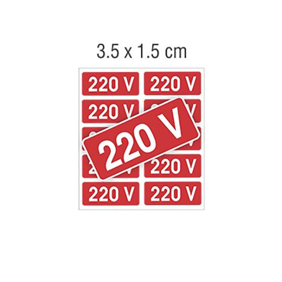 Placas Imports Fácil De Sinalizar – Adesivo 220V
