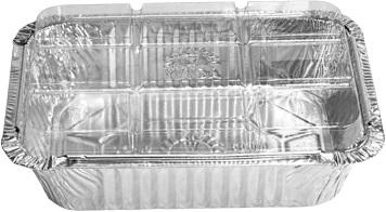 Bandeja De Alumínio Com Tampa Pet D-6 Caixa Com 50 Unidades Wyda