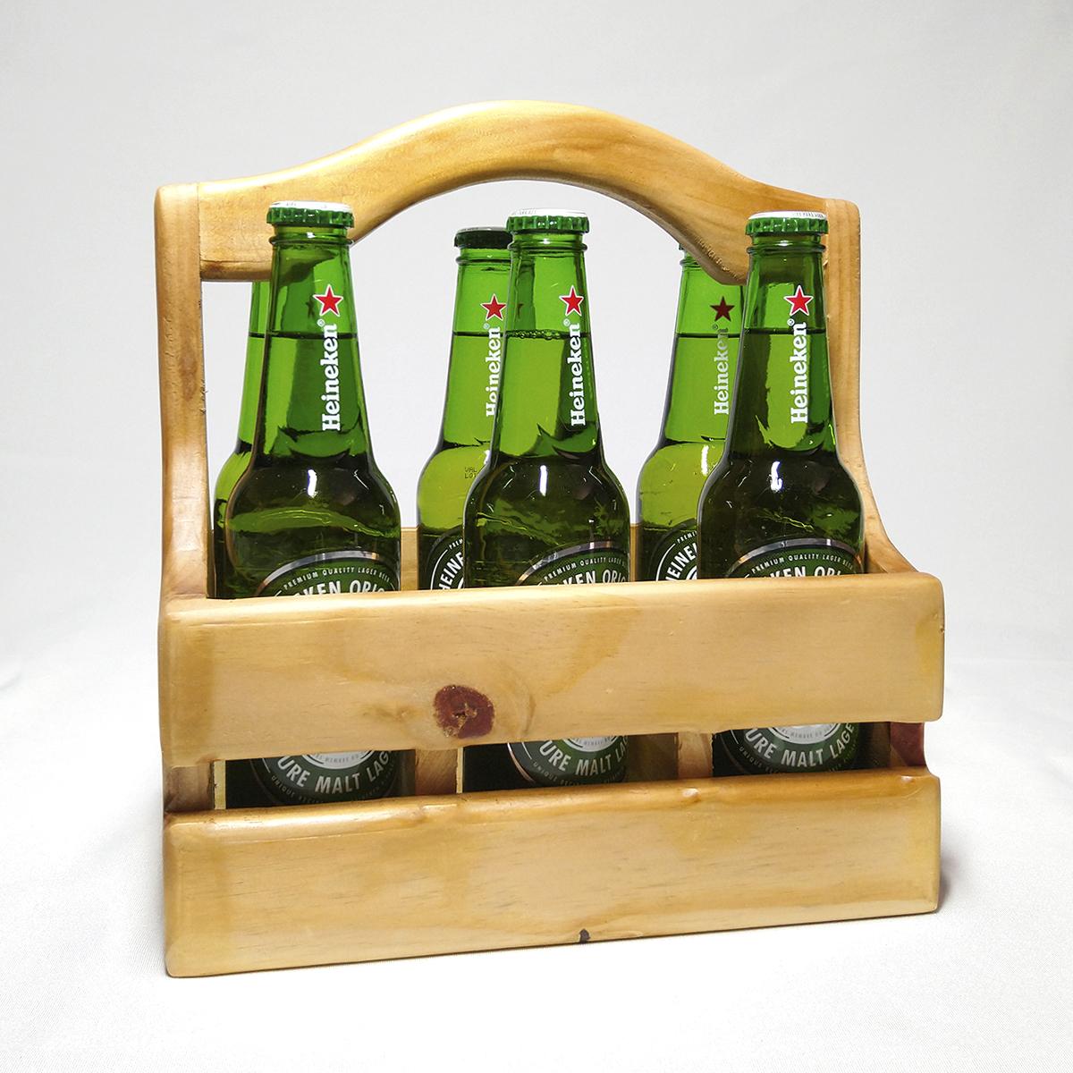 Suporte Para 6 Garrafas Long Neck + Cervejas