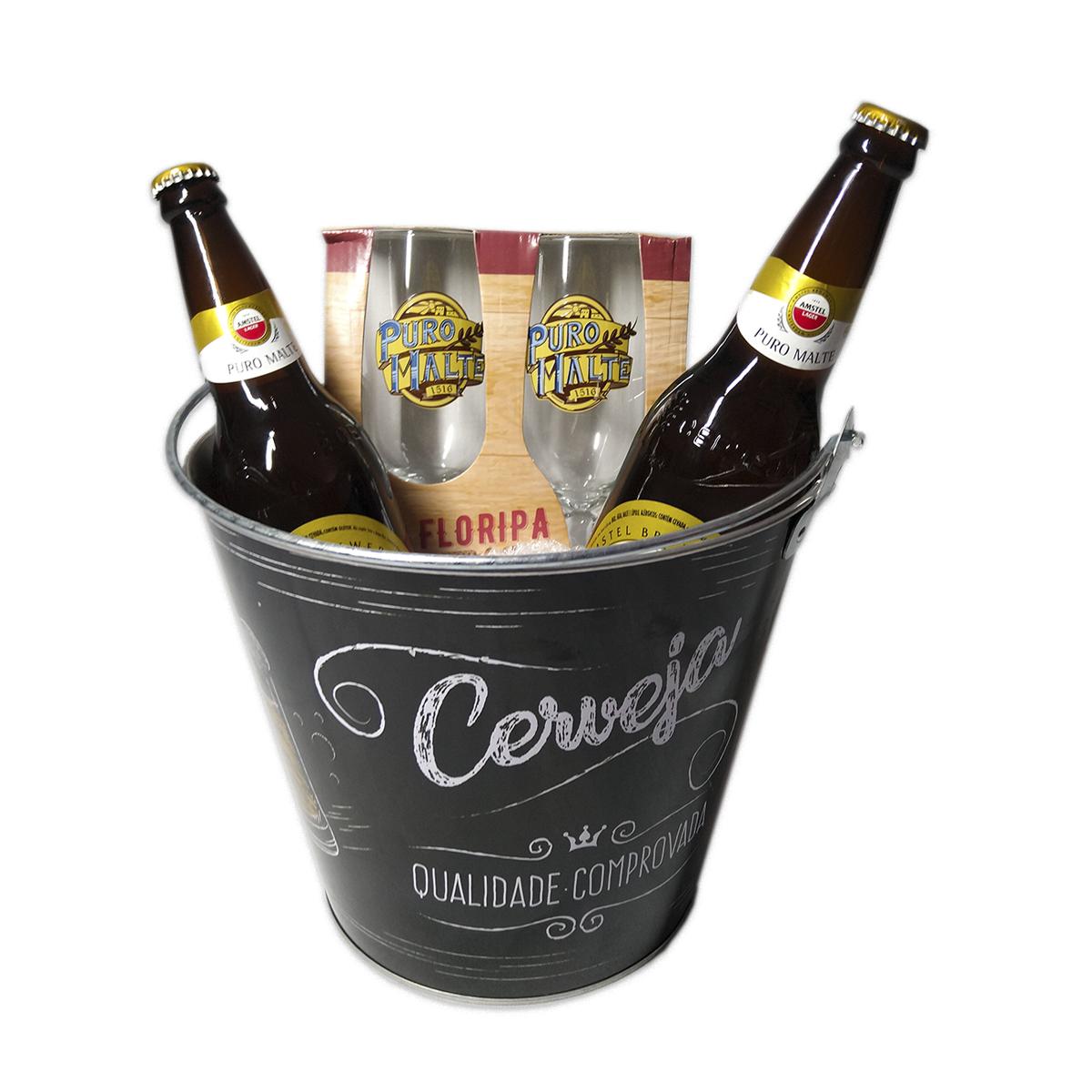 Kit Cerveja Com Balde E Taças