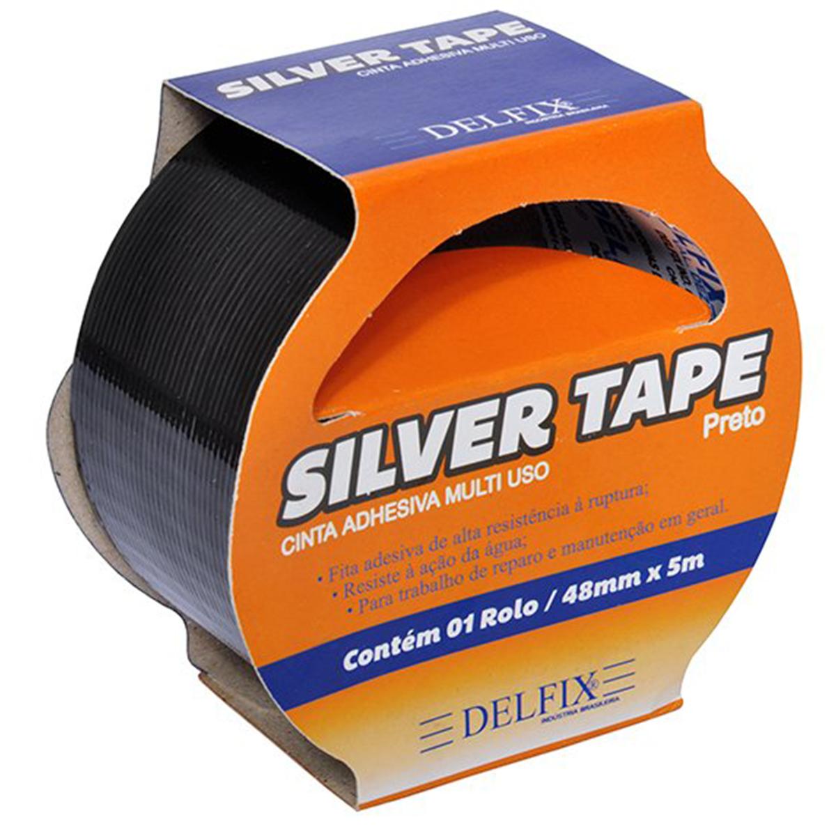 Silver Tape 48mm X 5m Delfix – Preta
