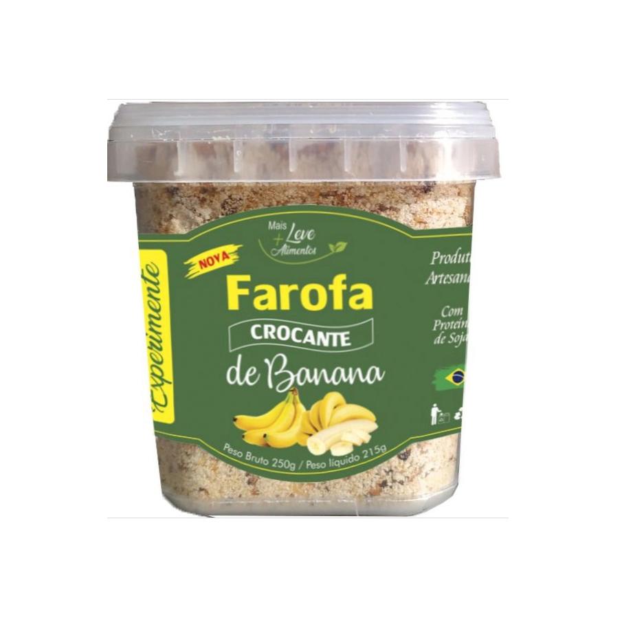 Farofa Crocante De Banana Mais Leve Alimentos 250g